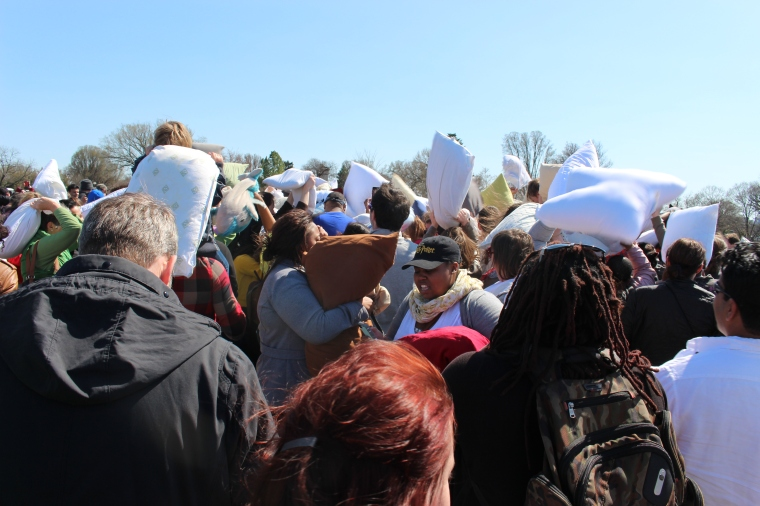 Pillow Fight on National Mall, Taken by Jamie Luu